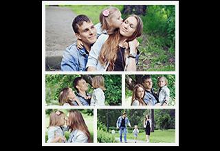 5 Portrait Photo Collage