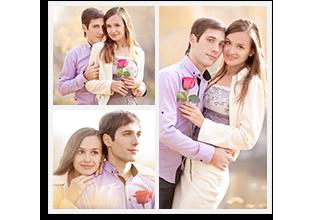 3 Square Photo Collage