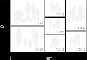 """7-piece (2)15""""x20"""",(3)10""""x12"""",(1)18""""x12"""",(1)12""""x12"""""""