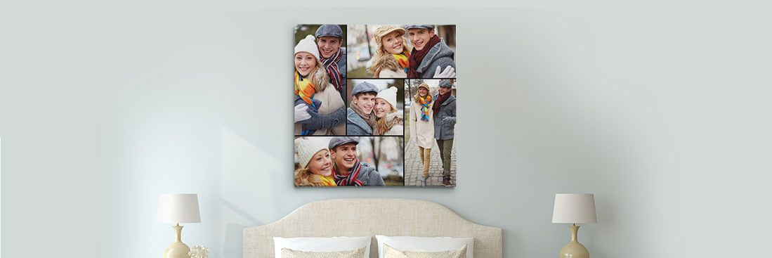 make your own photo collage canvas